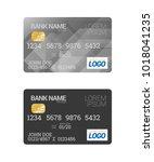 plastic bank credit or debit... | Shutterstock .eps vector #1018041235