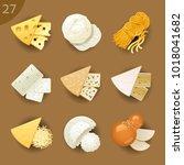 food ingredients. cheese | Shutterstock .eps vector #1018041682