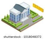 city architecture public... | Shutterstock .eps vector #1018048372