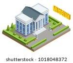 city architecture public... | Shutterstock .eps vector #1018048372