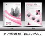 annual report cover design ... | Shutterstock .eps vector #1018049332