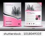 annual report cover design ... | Shutterstock .eps vector #1018049335