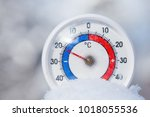 thermometer with celsius scale... | Shutterstock . vector #1018055536