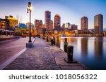 the architecture of boston in... | Shutterstock . vector #1018056322
