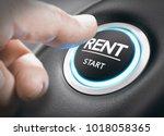 Man Pushing A Start Button Wit...