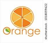 vector  orange logo | Shutterstock .eps vector #1018059622