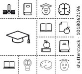 knowledge icons. set of 13... | Shutterstock .eps vector #1018062196