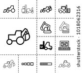loader icons. set of 13... | Shutterstock .eps vector #1018062316