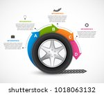 infographic design template.... | Shutterstock .eps vector #1018063132