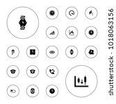 editable vector dial icons ... | Shutterstock .eps vector #1018063156