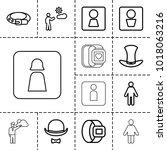 gentleman icons. set of 13... | Shutterstock .eps vector #1018063216