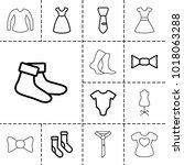 garment icons. set of 13...   Shutterstock .eps vector #1018063288