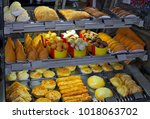 showcase of brazilian snacks | Shutterstock . vector #1018063702