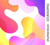 abstract colorful overlay... | Shutterstock .eps vector #1018063942