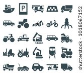 vehicle icons. set of 25...   Shutterstock .eps vector #1018067152