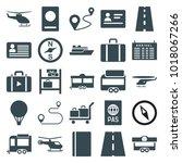 journey icons. set of 25... | Shutterstock .eps vector #1018067266
