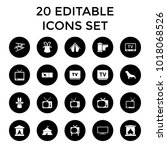 show icons. set of 20 editable... | Shutterstock .eps vector #1018068526