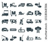 moving icons. set of 25... | Shutterstock .eps vector #1018068586