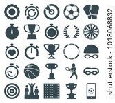 competition icons. set of 25... | Shutterstock .eps vector #1018068832