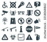 warning icons. set of 25... | Shutterstock .eps vector #1018068862