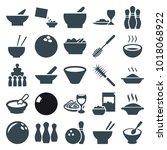 bowl icons. set of 25 editable...   Shutterstock .eps vector #1018068922