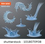 water splash beautiful... | Shutterstock .eps vector #1018070938