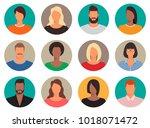 set of male and female avatars...