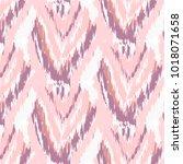 ikat ogee ethnic pattern in... | Shutterstock .eps vector #1018071658