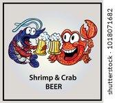 shrimp crab illustration eps 10    Shutterstock .eps vector #1018071682