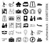 journey icons. set of 36... | Shutterstock .eps vector #1018072006