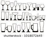 vector set of black and white...   Shutterstock .eps vector #1018072645