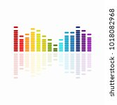 colourful music equalizer... | Shutterstock .eps vector #1018082968