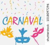festive carnaval background... | Shutterstock .eps vector #1018097296