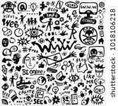 web doodle set | Shutterstock .eps vector #1018106218