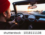 middle age hipster man with... | Shutterstock . vector #1018111138