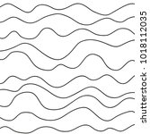 pattern with lines and waves.... | Shutterstock .eps vector #1018112035