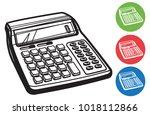 calculator icon   illustration... | Shutterstock .eps vector #1018112866