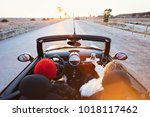 wide angle shot of couple of... | Shutterstock . vector #1018117462