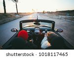wide angle shot of couple of... | Shutterstock . vector #1018117465