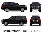 realistic suv car. front view ... | Shutterstock .eps vector #1018120078