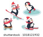 winter sports icon. active... | Shutterstock .eps vector #1018121932