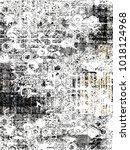 modern  abstract  ethnic ... | Shutterstock . vector #1018124968