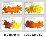 vector set of faceted 3d... | Shutterstock .eps vector #1018129852