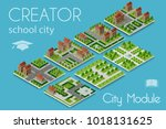 city module creator isometric... | Shutterstock .eps vector #1018131625