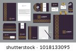 corporate identity branding...   Shutterstock .eps vector #1018133095