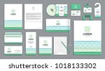 corporate identity branding... | Shutterstock .eps vector #1018133302