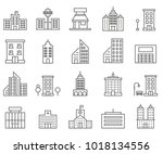 simple set of cityscape related ...   Shutterstock .eps vector #1018134556