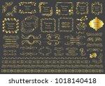 set of vector graphic elements... | Shutterstock .eps vector #1018140418
