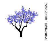 tree isolated on white... | Shutterstock .eps vector #1018143022