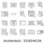 simple set of binary code... | Shutterstock .eps vector #1018146136